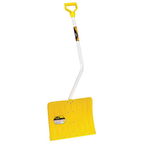 Bent-Handle Heavy-Duty Aluminum Snow Shovel