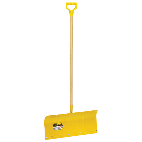 "24"" Heavy-Duty Aluminum Snow Pusher with D-grip"