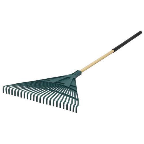 """24"""" Flat-Front Poly Leaf Rake with Cushion Grip"""