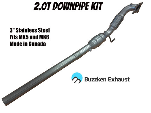 "3"" Downpipe for MK5/6 - 2.0T"