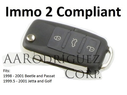 Complete Square FOB for older VW MK4 cars - Immo 2