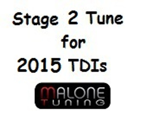 Malone Tuning - Stage 2 Tune for 2015 Golf/Jetta/Passat CR TDI