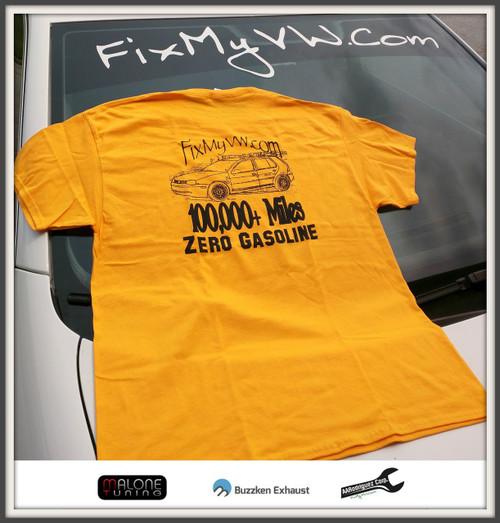 Clearance - 100,000+ Miles....Zero Gasoline! Yellow Shirt