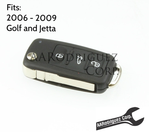 Late MK5 Key FOB - Genuine VW - Golf/Jetta - 5K0-837-202-R - (1 Piece Key)