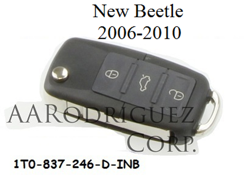 New Beetle Key 1T0-837-246-INB with remote