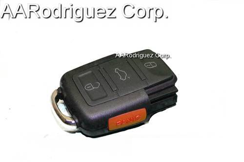 SQUARE KEY SHELL FOB 3 BUTTONS CONTROL WITH PANIC for VW