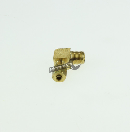 """Easy-Align Brass Compression Tube Fitting, 90 Degree Elbow for 1/8"""" Tube OD X 1/8 Male Pipe"""