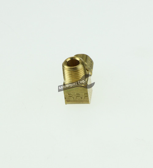 """Easy-Align Brass Compression Tube Fitting, 90 Degree Elbow for 1/8"""" Tube OD X 1/8 Male Pipe-2"""