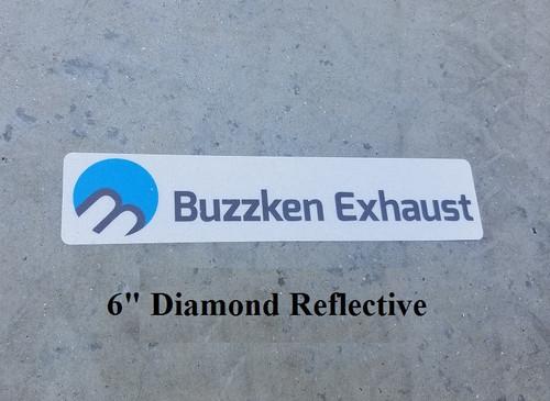 BuzzKen Vinyl  Euro plate Sticker - 6 Inches Long