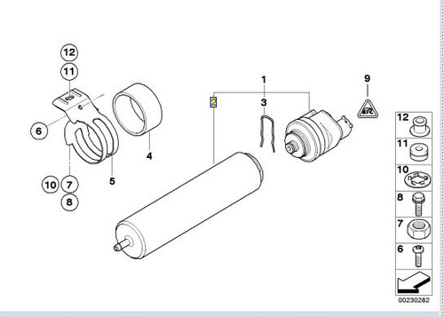 BMW 335D and X5 Fuel Filter (13327793672)