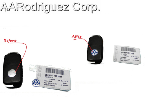 Genuine VW Sign for Key FOBs - Made from Aluminum  AARodriguez Corp. #1