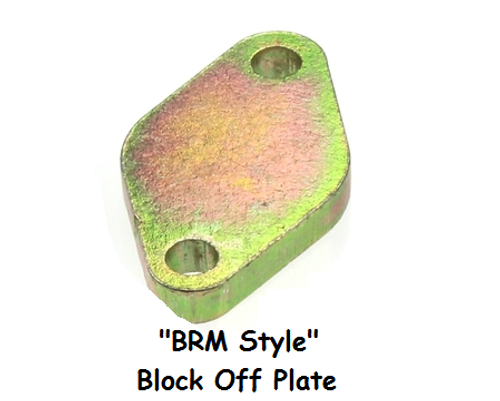 Block off plate for BRM and CR EGR Coolers