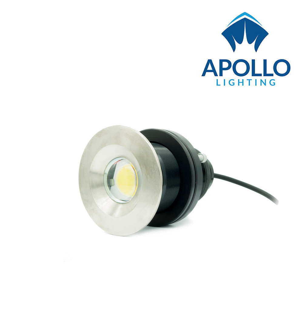 UWL LED underwater lights for boat QT100 available in white and blue with integral driver and full color change RGBW