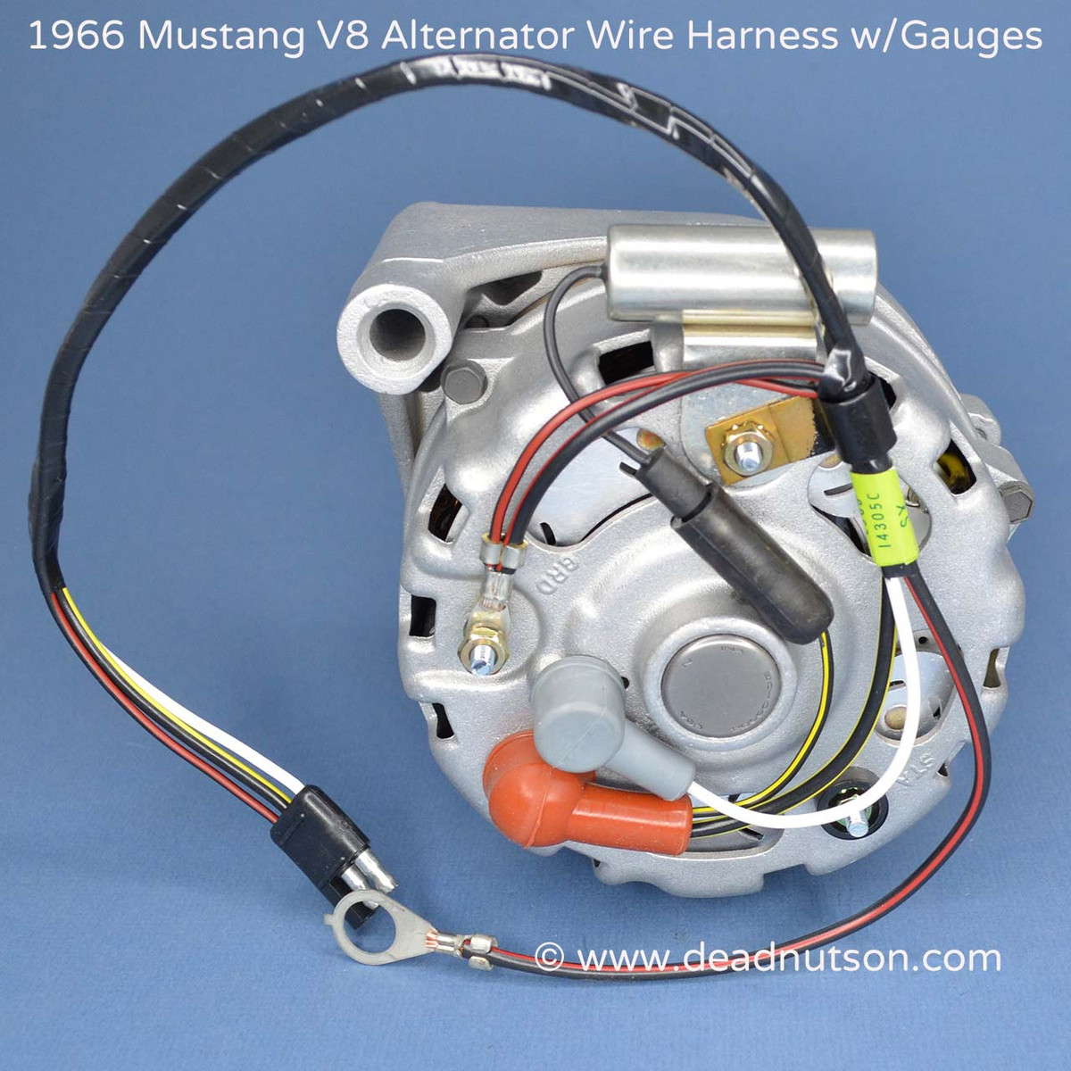 1964-1965 mustang alternator wire harness tag 289 w/instrument gauges