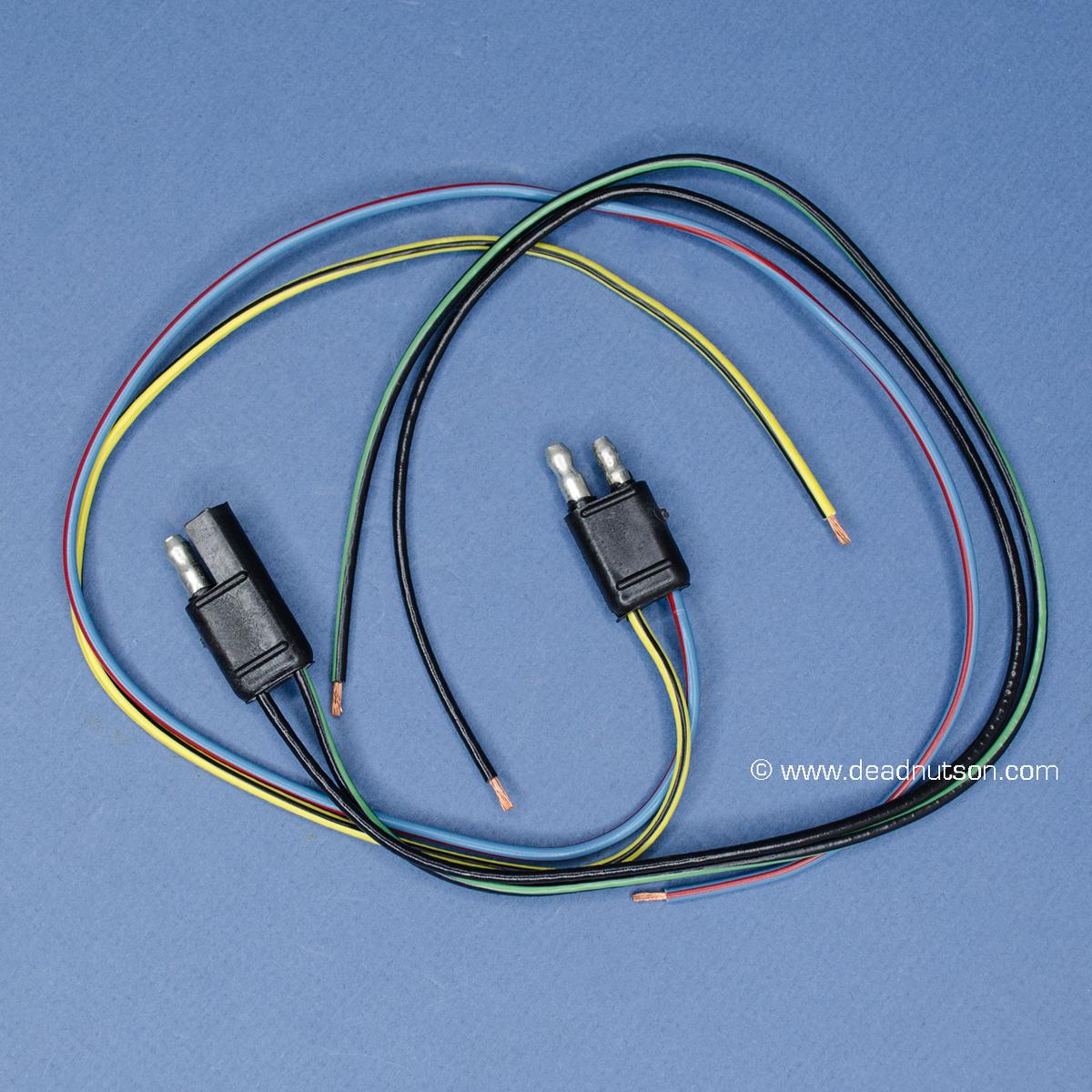 1967 70 mustang am radio wiring repair harness set dead nuts on rh  deadnutson com 1967 Ford Mustang Alternator Wiring Diagram 1967 Mustang  Wiring Diagram