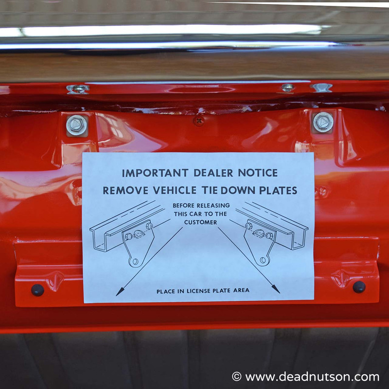Vehicle Tie Down Instructions Decal