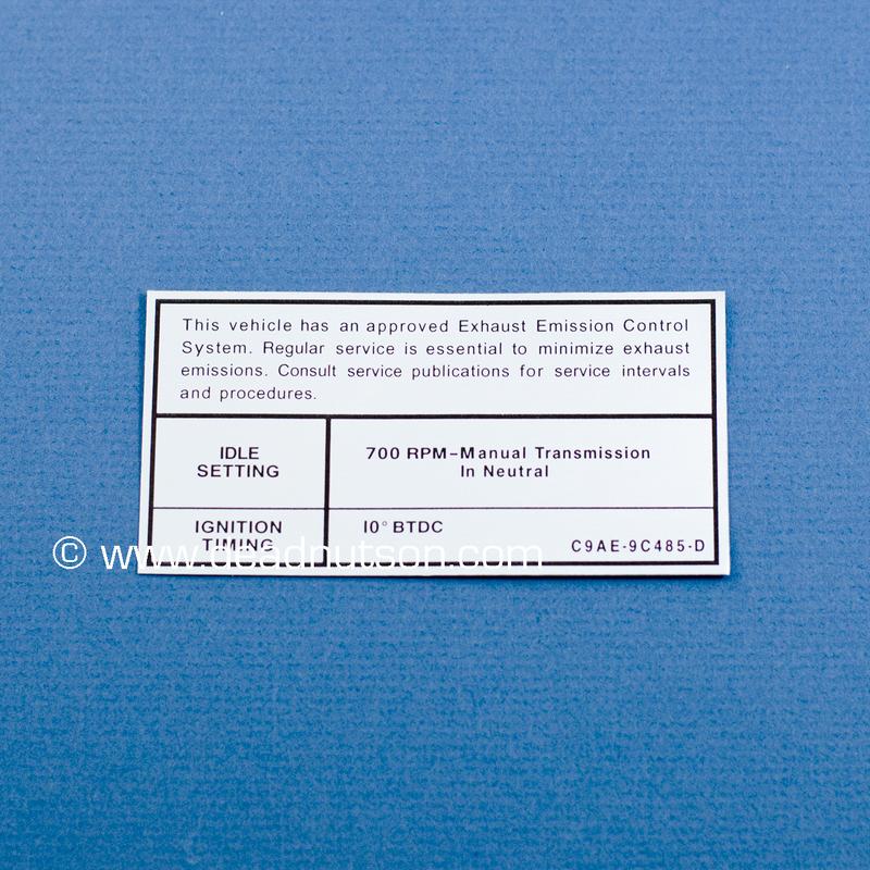 1969-1970 BOSS 429 Engine Emission Decal 700 RPM