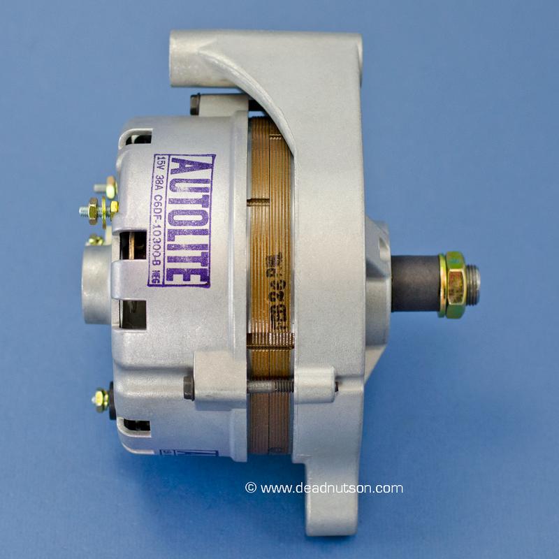 1968 289, 302 +EM -PS  Autolite Alternator C6DF-10300-B (before June 1968)