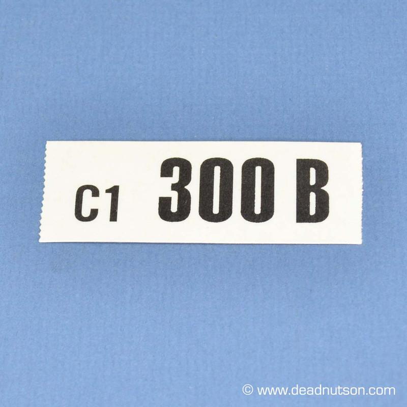 BOSS 302 Engine ID Decal 300B C1 (Drag Pack)
