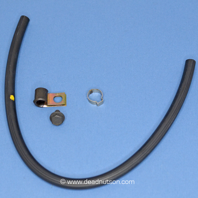 Ribbed Rear Axle Vent Hose with Concours Correct Hardware