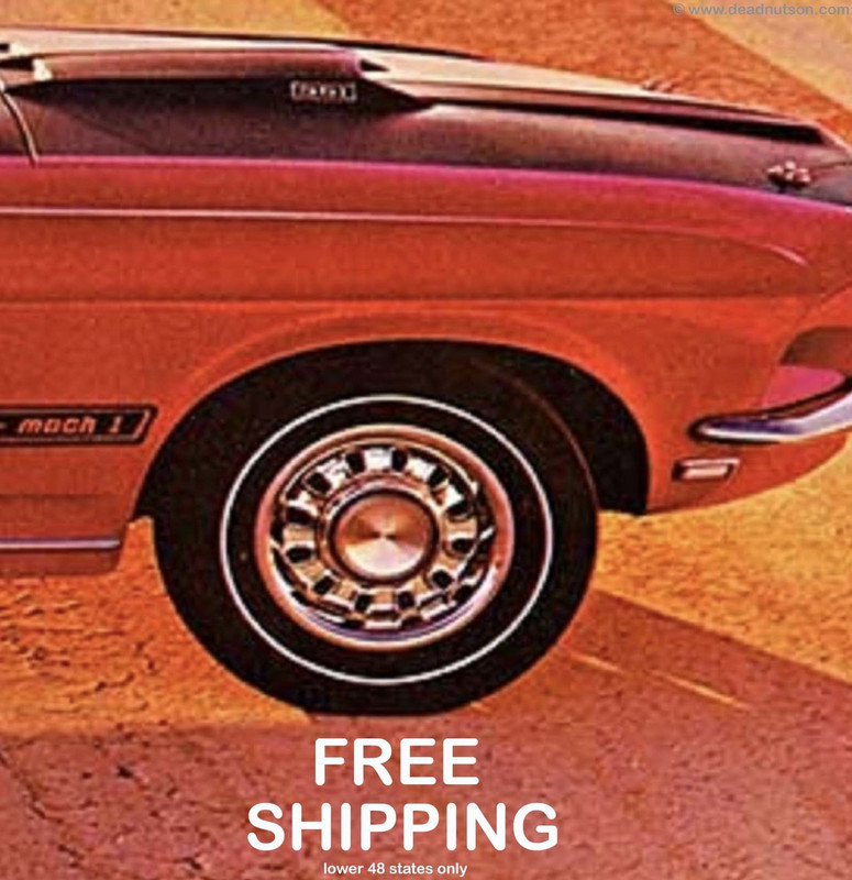 1969 Mustang Goodyear Polyglas F70/14 White Side Wall Tire