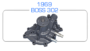 1969 BOSS 302 water pump rebuild kits