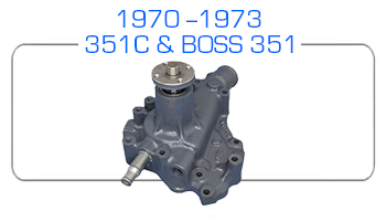 1970-73 Ford 351C and BOSS 351 water pump rebuild kits
