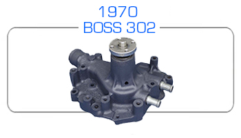 1970 BOSS 302 water pump rebuild kits