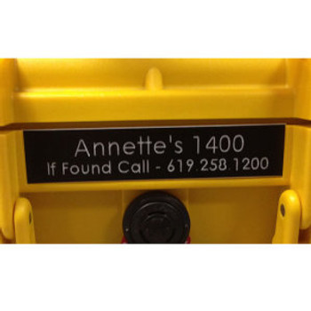Name Plate - Pelican 0370 Case