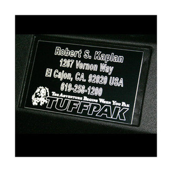 Tuffpak Custom Name Plate