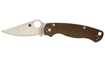 Spyderco ParaMilitary2 S35VN, Earth Brown -Sprint Run-