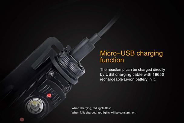 Fenix HL60R USB Headlamp
