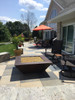 "50"" Corinthian fire pit with amber fire glass"