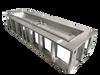 rectangle electronic ignition fire pit frame wit h-burner