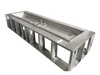 rectangular fire pit frame with electronic ignition h-burner