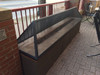 Fire pit with rectangular dome mesh cover