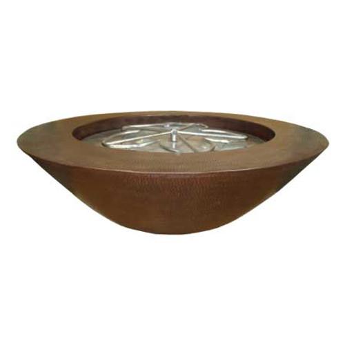 """40"""" El Cobre Copper FIre Bowl"""