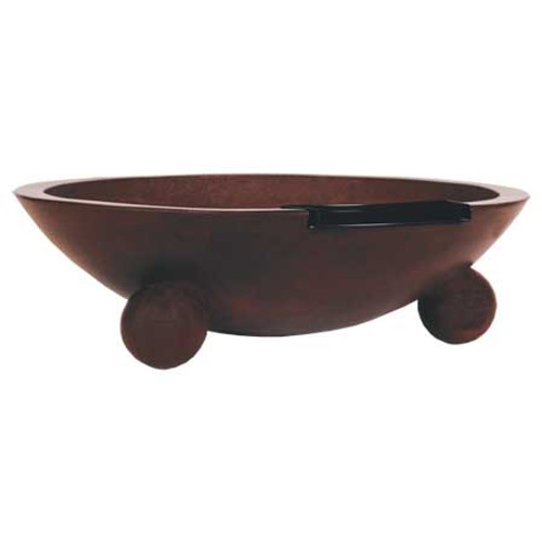 "42"" Large Barbados Fire & Water Concrete Bowl"
