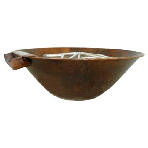 "31"" Tuscano II Fire & Water Copper Bowl"