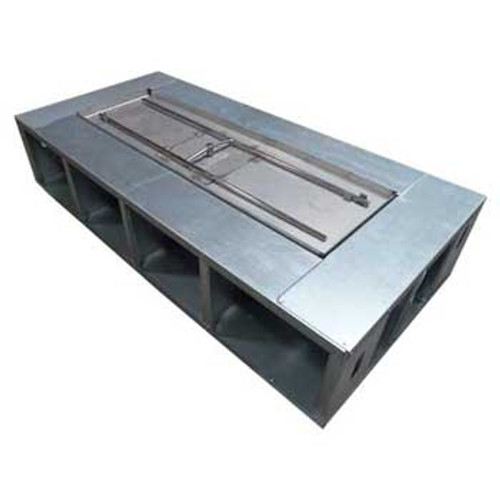 """100"""" x 28"""" Fire Pit Frame with 6"""" decking (Manual Gas Burner)"""