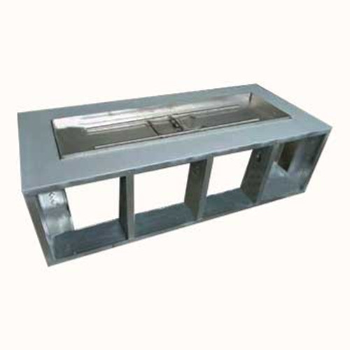 rectangle fire pit frame out of stainless steel