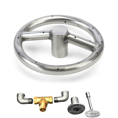 "12"" stainless steel gas fire ring kit"