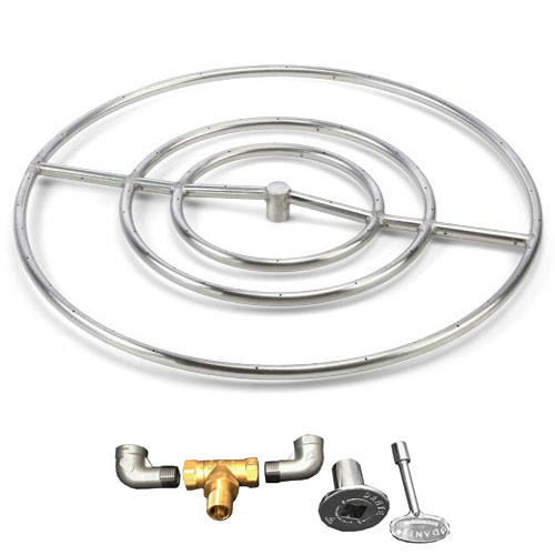 "30"" high capacity gas fire ring"