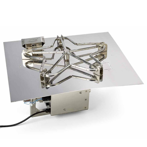 """18"""" square stainless steel electronic ignition burner system"""