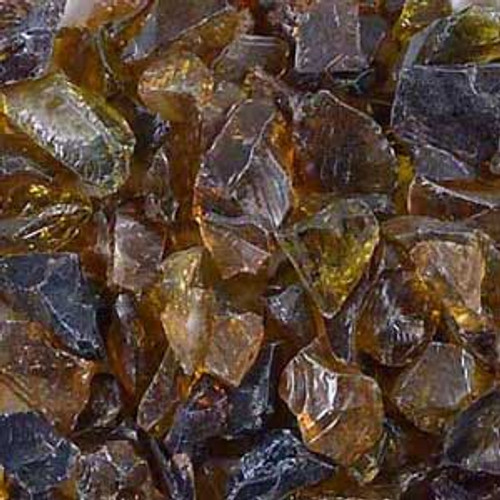 Amber dark fire glass