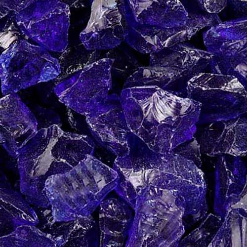 Cobalt blue fire glass