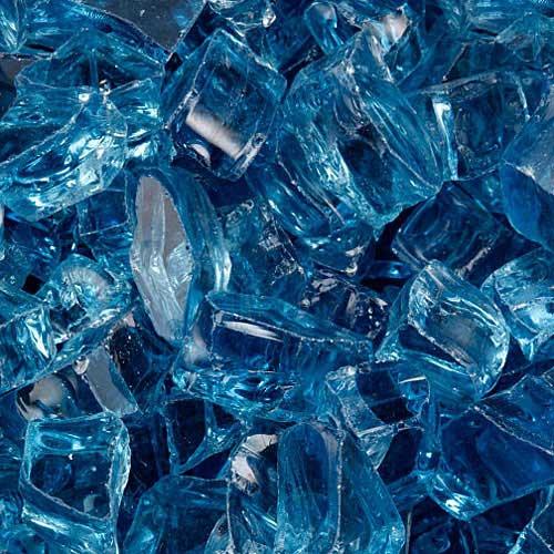 Large arctic blue fire glass