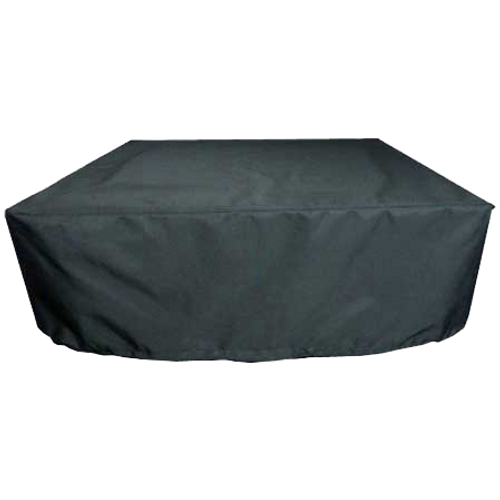 Custom acrylic square fire pit cover in black - Premium Square Fire Pit Covers Flame Creation