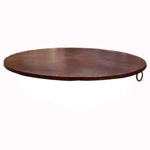 "45"" copper fire pit cover with turn down"