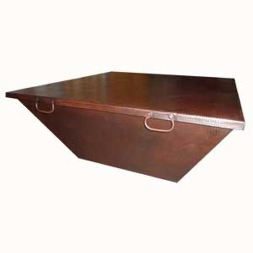 "50"" square fire pit copper cover with oil rubbed bronze finish"